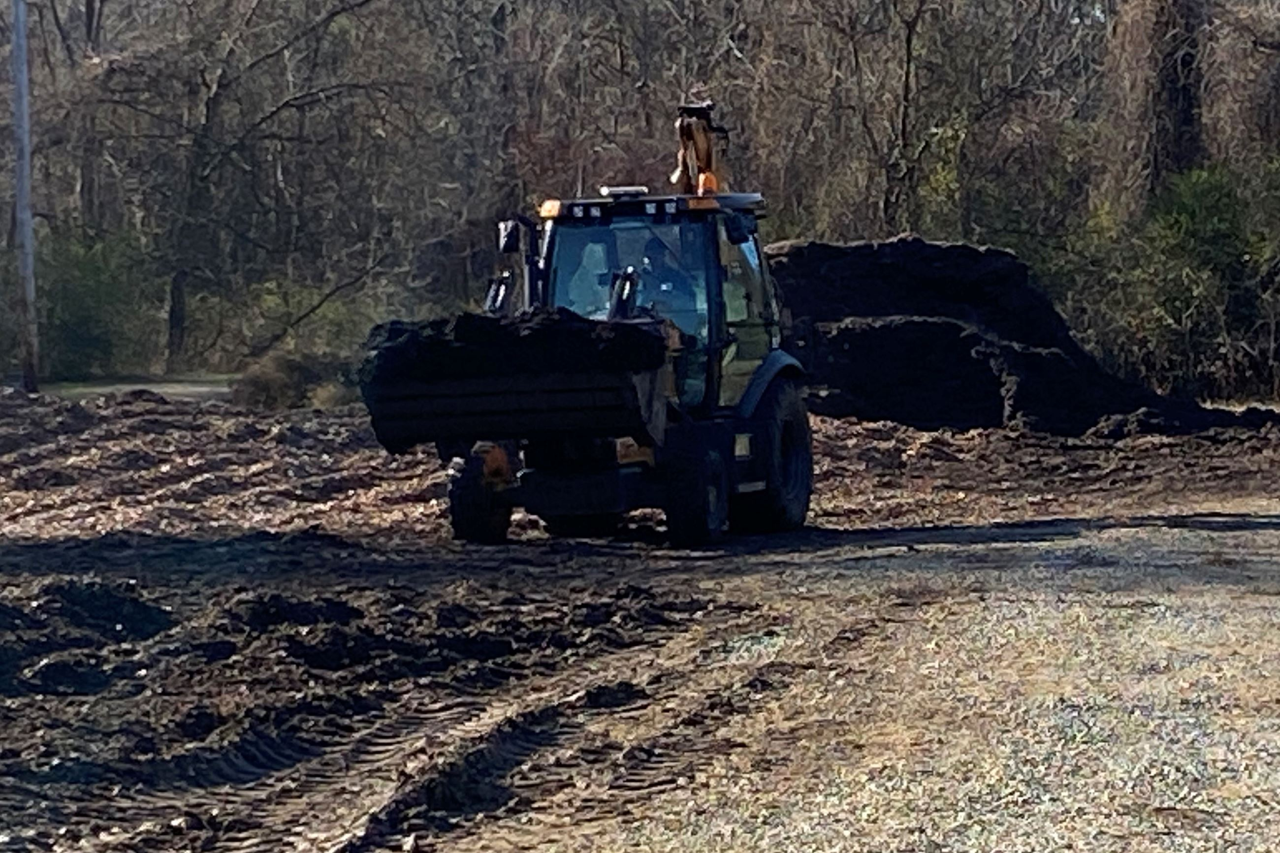 Leaf Compost Operations at Public Works Facility